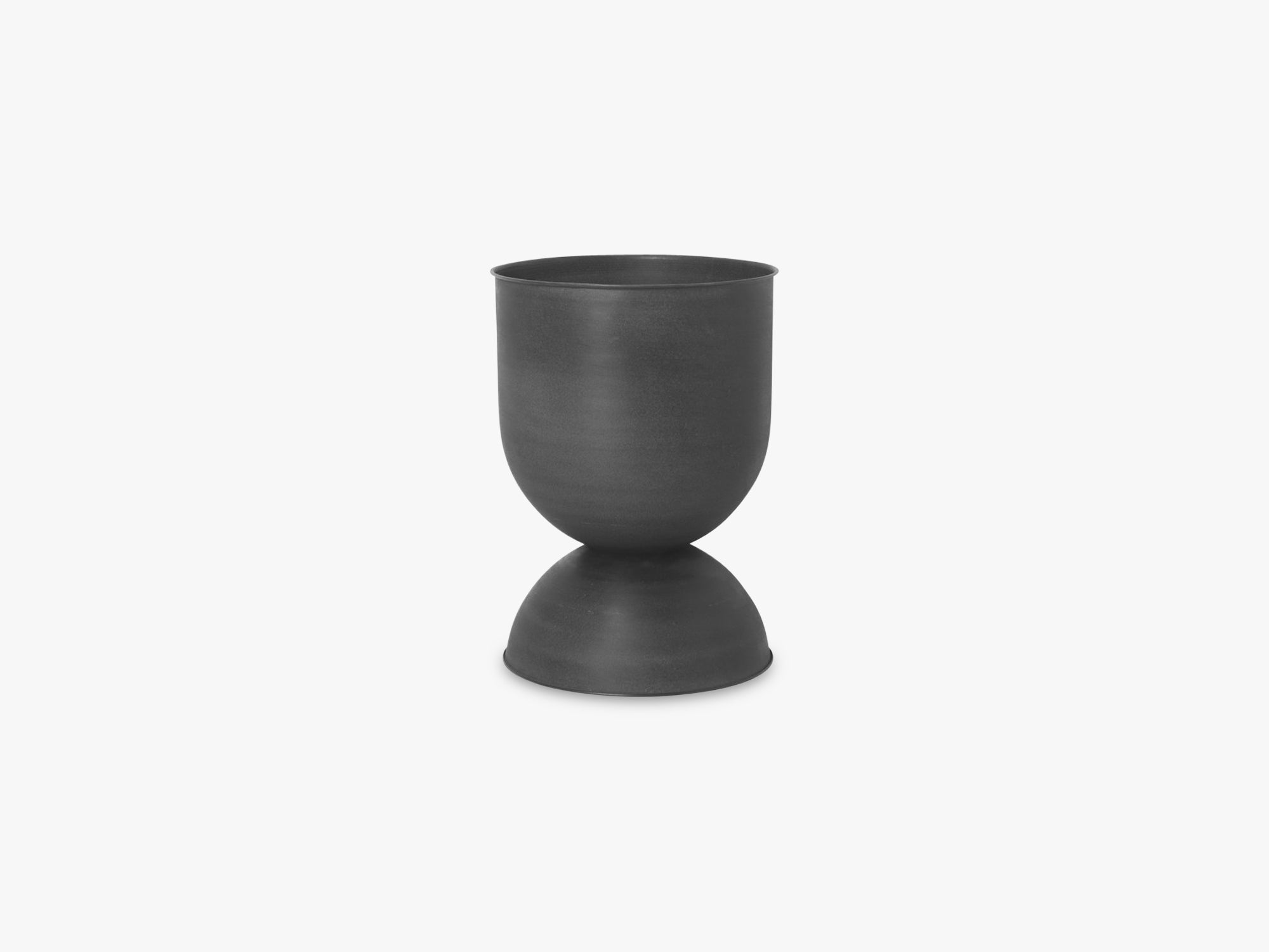 Hourglass Pot - Medium - Black/Dark Grey fra Ferm Living