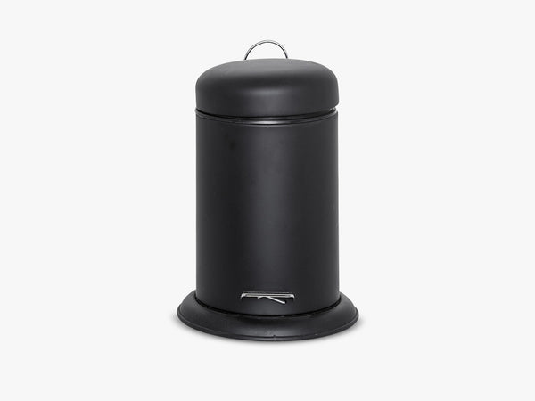 Dustbin, Black, Metal fra Bloomingville