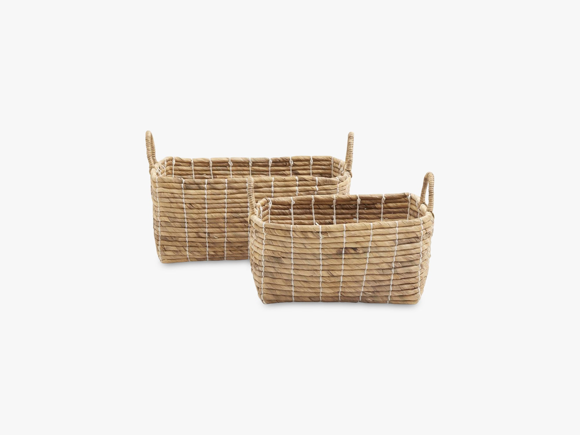 Basket square set, water hyacinth fra Nordal