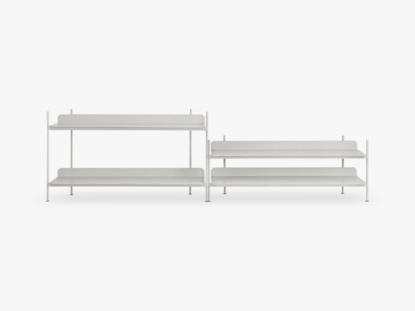Compile Shelving System / Configuration 5, Grey fra Muuto