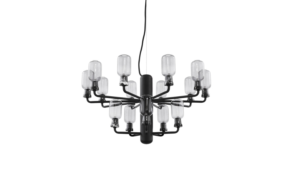 Amp Chandelier, Smoke/Black - Small fra Normann Copenhagen