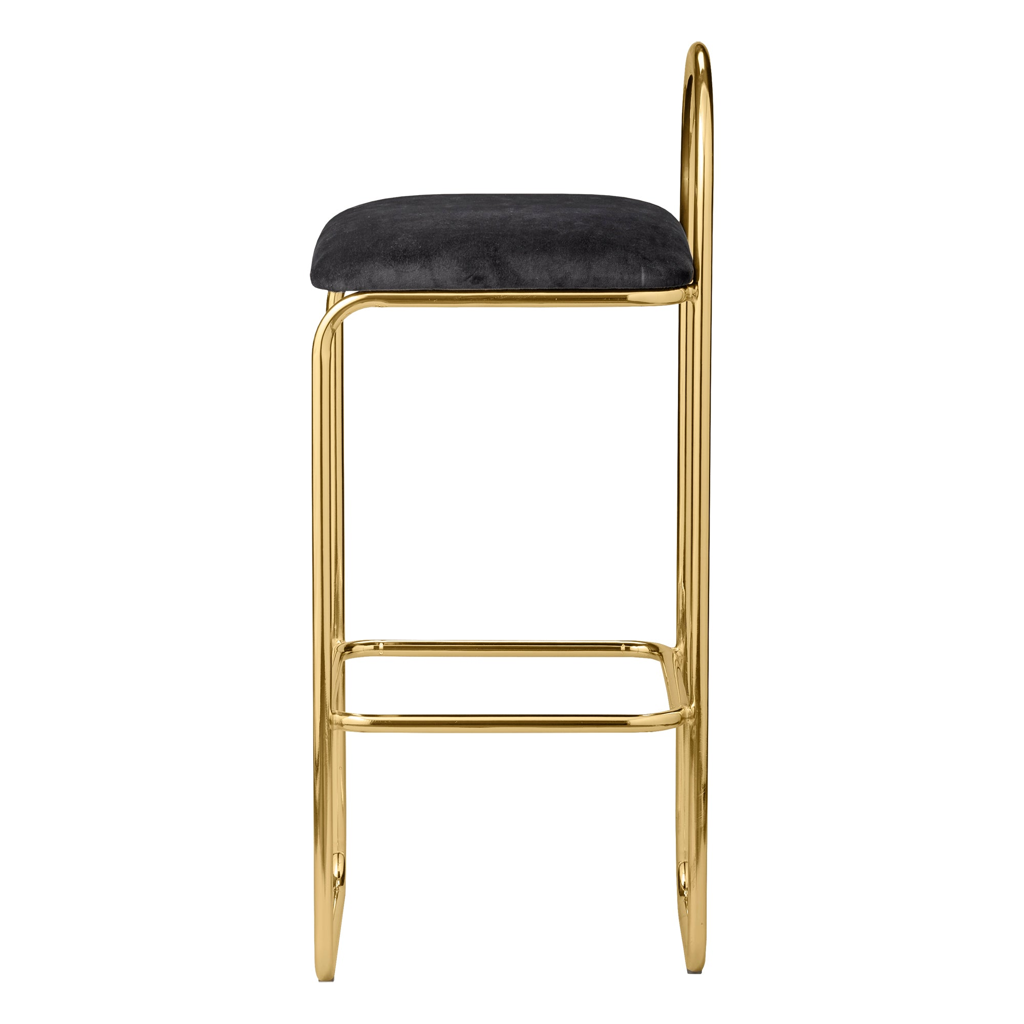ANGUI bar chair high, gold/anthracite fra AYTM