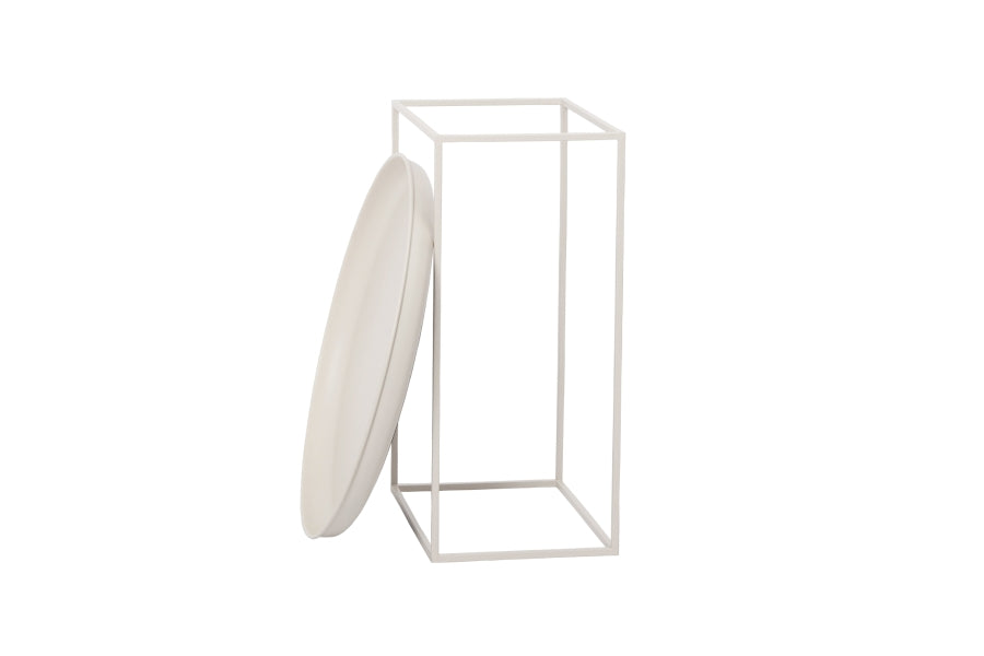 Duke Side Table, Small - White fra NORR11