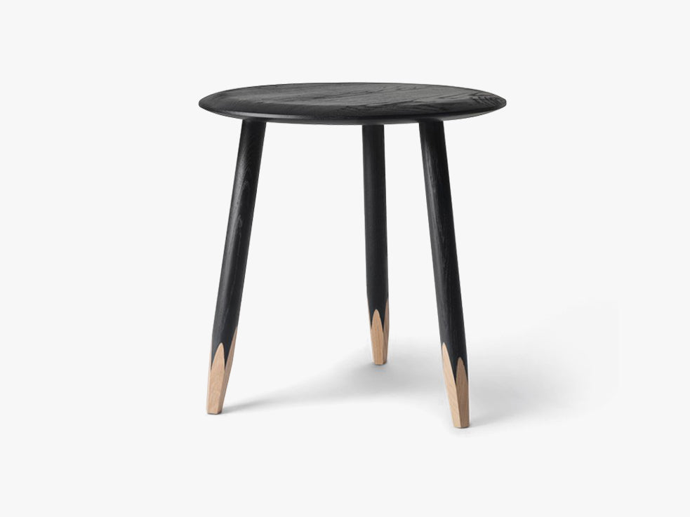 Hoof Table - SW1 - Ø50cm - Black fra &tradition