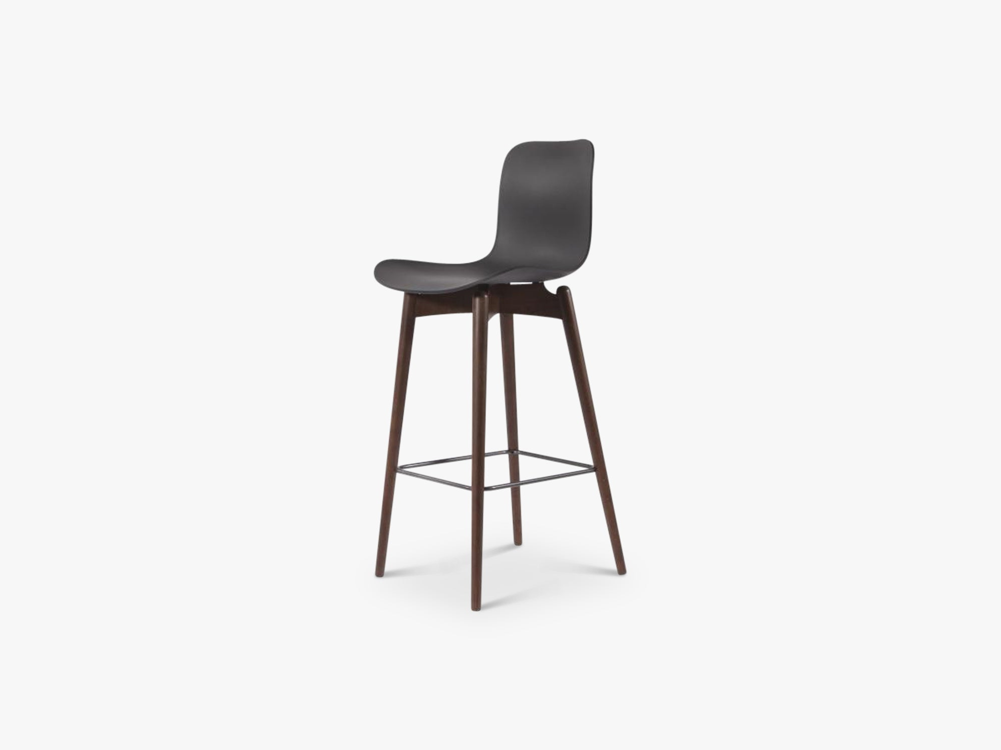Langue Bar Chair Low, Dark/Anthracite Black fra NORR11
