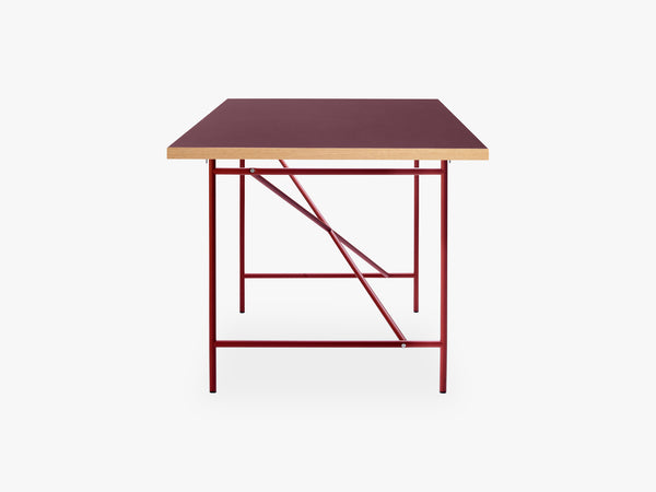 Eiermann Frame 1 Desk, Rust Red fra Egon Eiermann