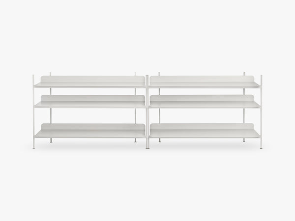 Compile Shelving System / Configuration 6, Grey fra Muuto