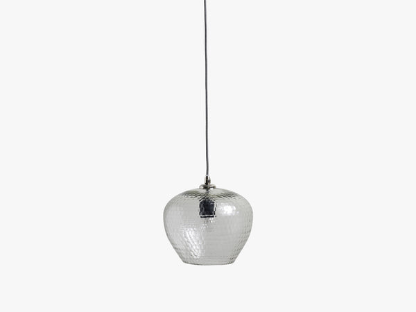 TENDENCE clear glass lamp, hand cut fra Nordal