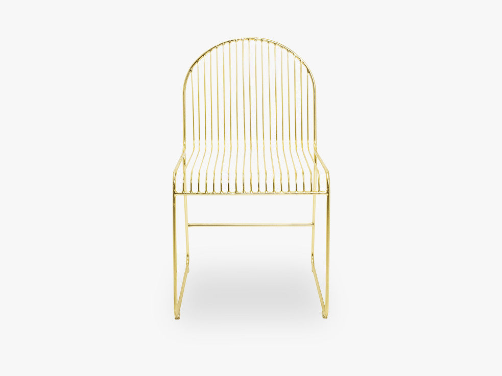 Friend Dining Chair, Gold, Metal fra Bloomingville