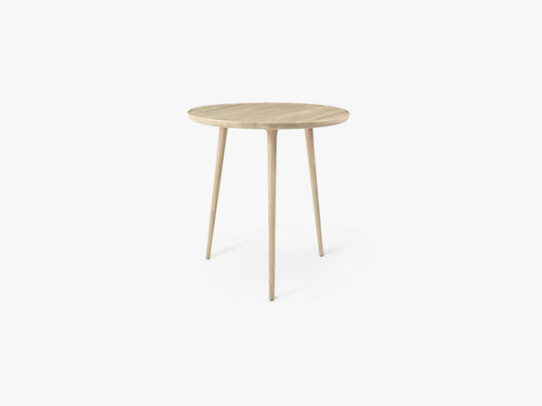 Accent Cafe Table Ø: 70, Mat Lacquered Oak fra Mater
