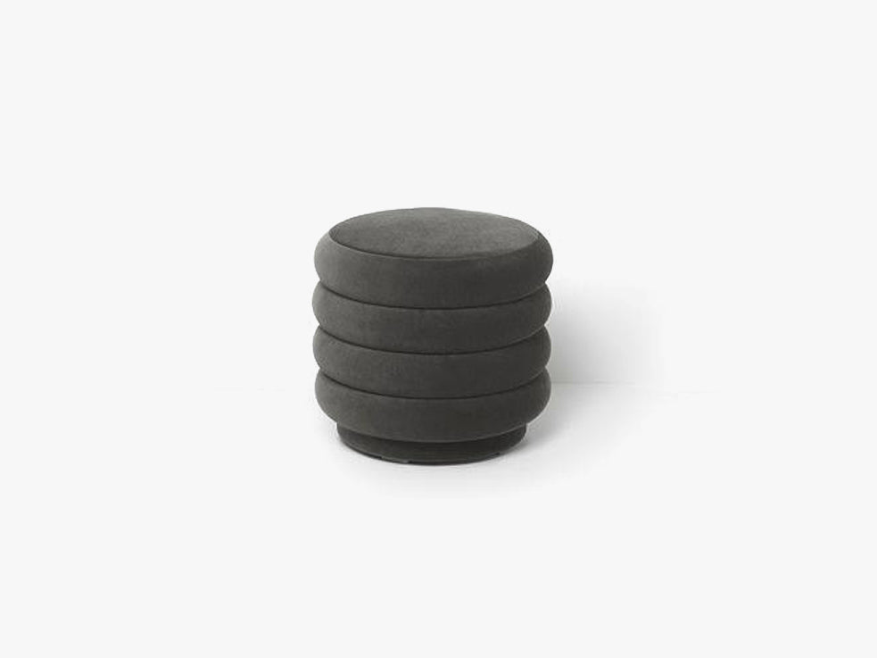 Pouf Round Small, Grey fra Ferm Living