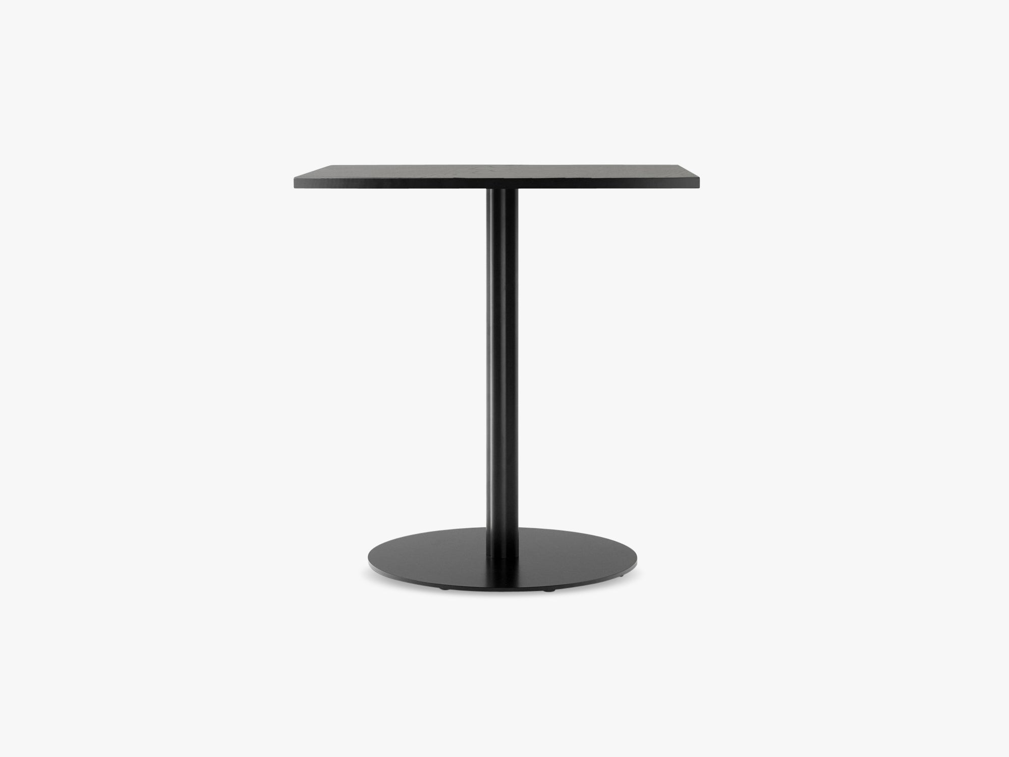 Harbour Column Dining Table 60x70 - Charcoal Linoleum with Black Base fra Menu