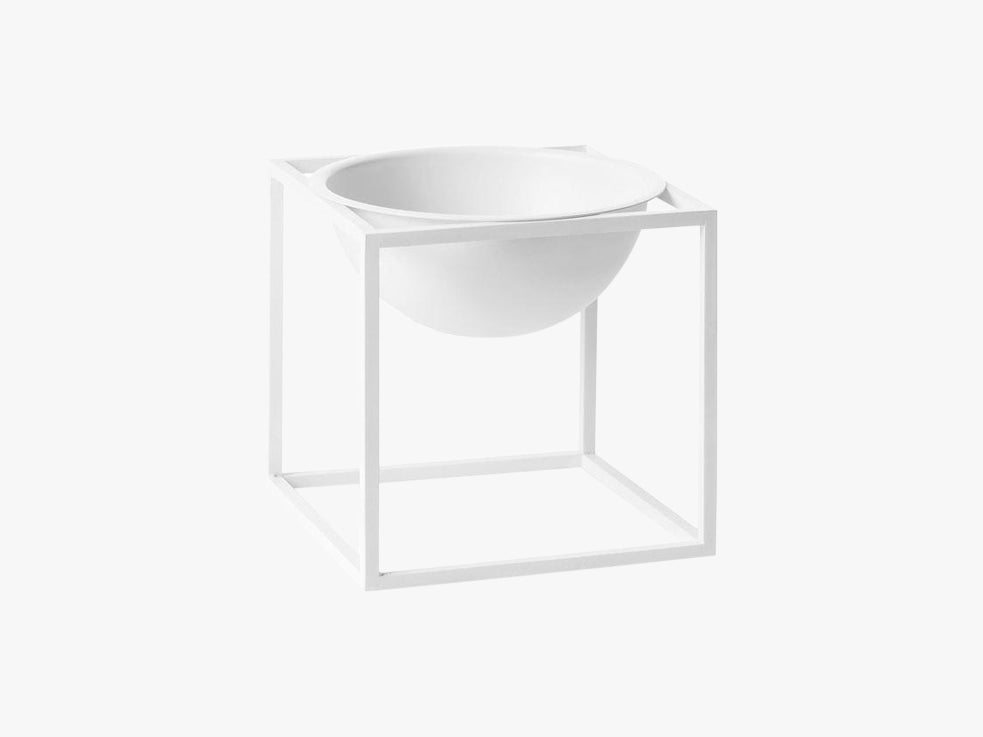Kubus Bowl small, white fra By Lassen