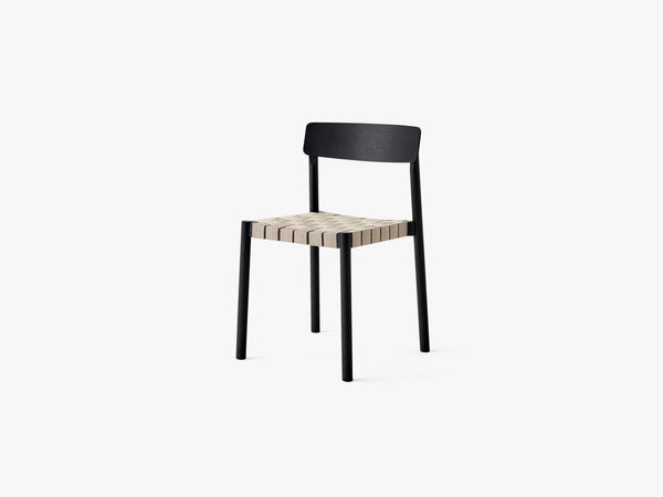 Betty Chair TK1 Black/Natural webbing fra &tradition
