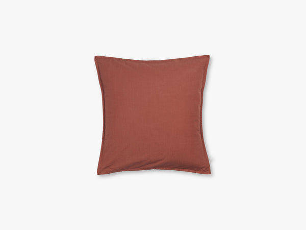 Pillow Cotton Slub 50x50, Terracotta fra Aiayu
