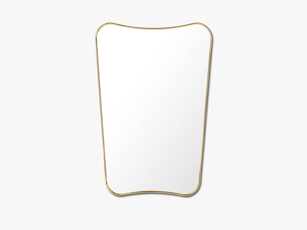 FA 33 Wall mirror, Polished Brass fra GUBI