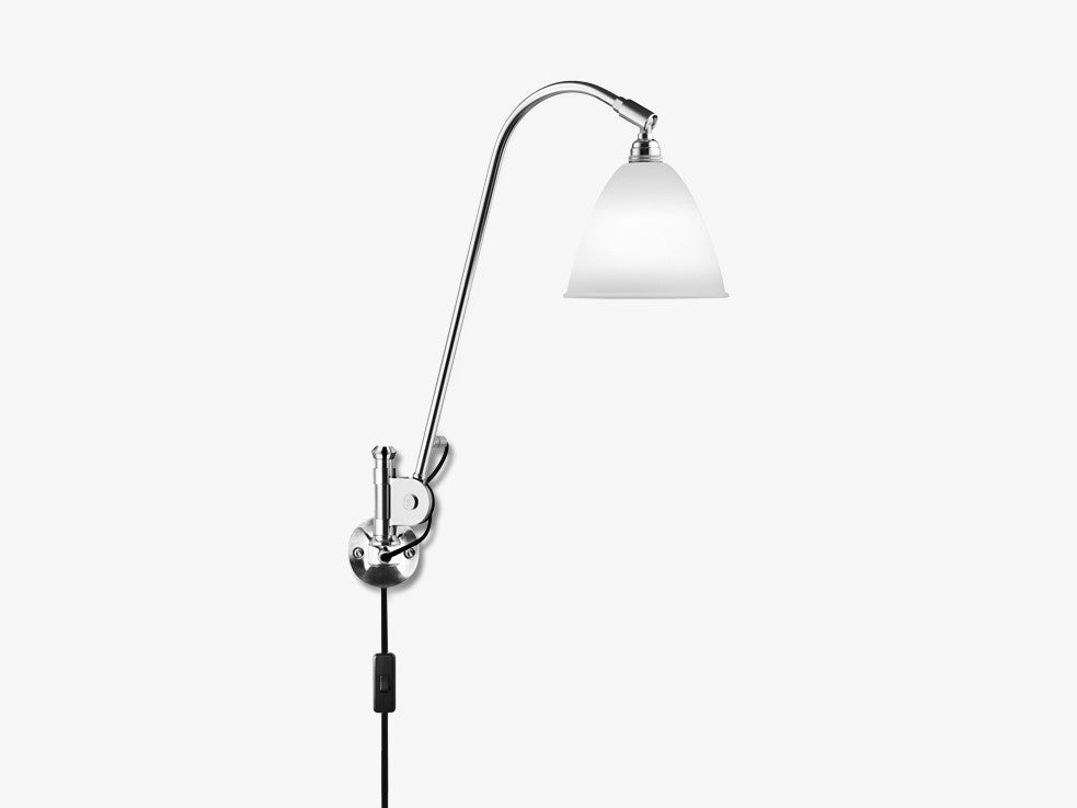 Bestlite BL6 Wall Lamp - Ø16 - Crome Base, Bone China fra GUBI