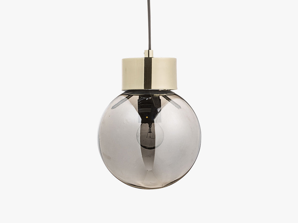 Pendant Lamp, Silver, Glass fra Bloomingville
