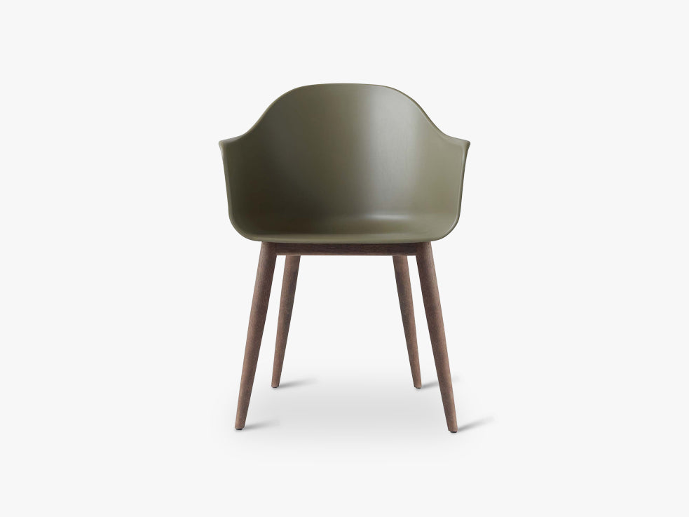 Harbour Chair, Olive/Dark Oak Base fra Menu