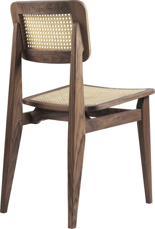 C-Chair Dining Chair - All French Cane, American Walnut Oiled fra GUBI