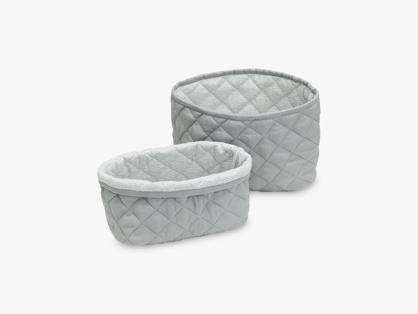 Quilted Storage Basket Set of Two, Grey fra Cam Cam Copenhagen