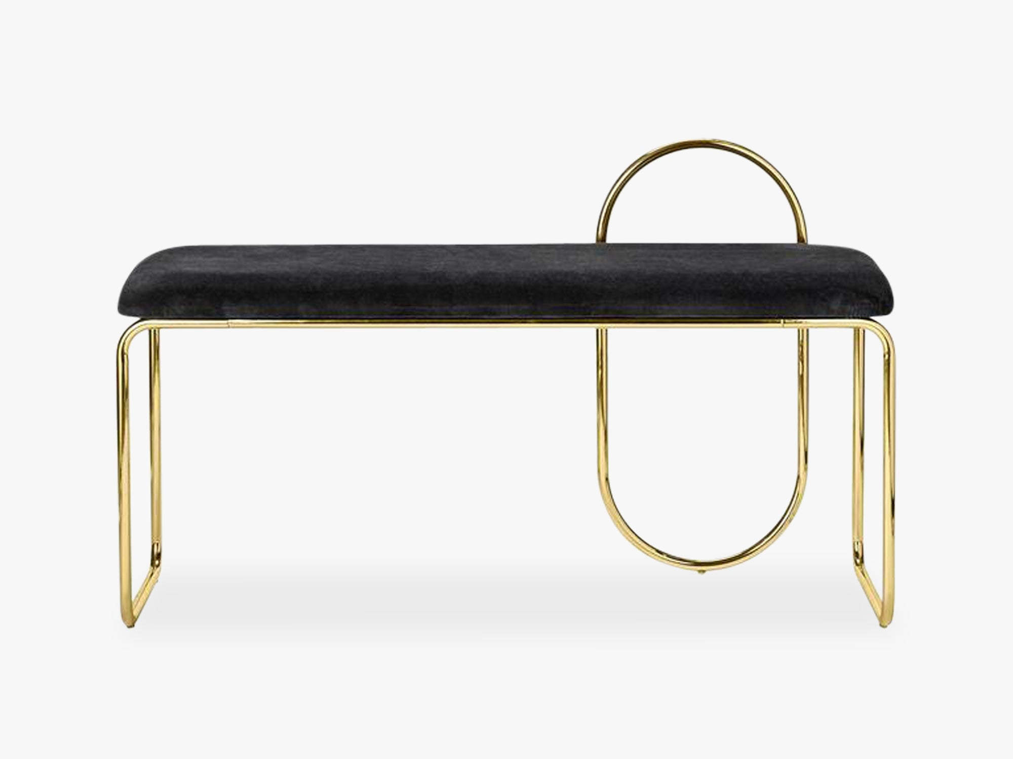 ANGUI bench, black/gold fra AYTM