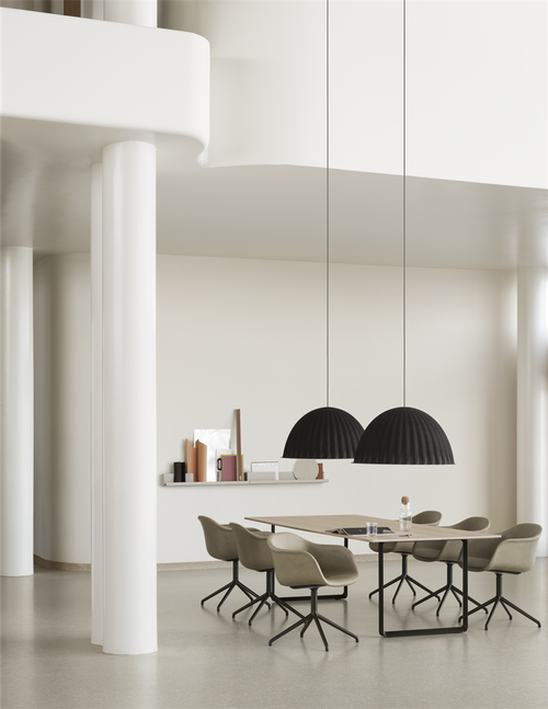 70/70 Table - 295 Cm, Black/White fra Muuto