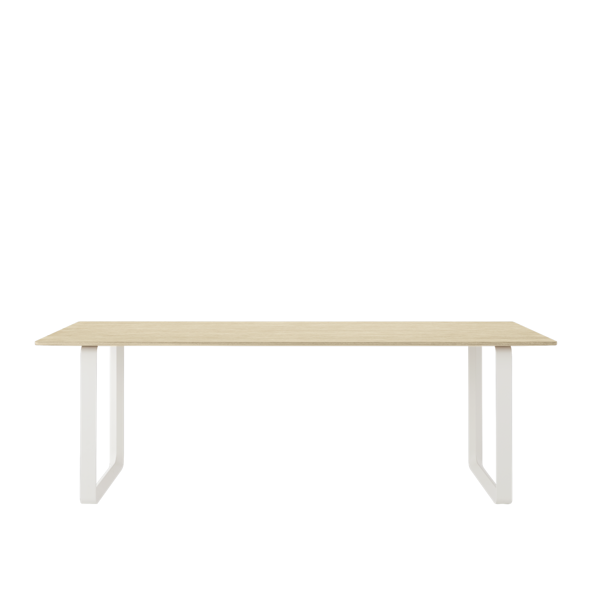 70/70 Table 225 X 90 Cm, Solid Oak / White fra Muuto