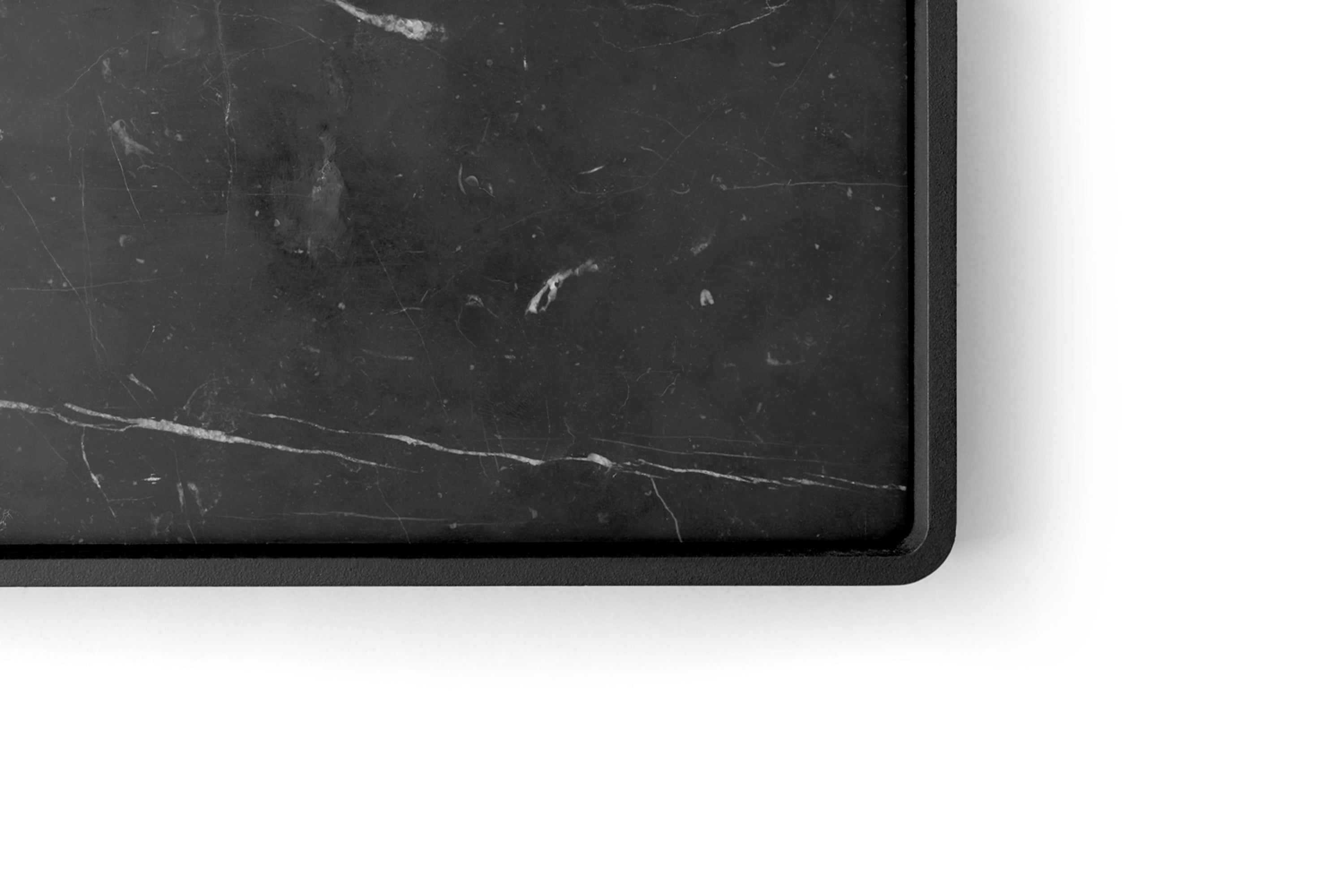 Shower Tray - Wall, Black/Black Marble fra Menu
