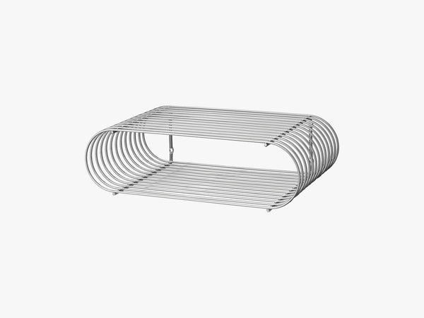 CURVA shelf silver, one size fra AYTM