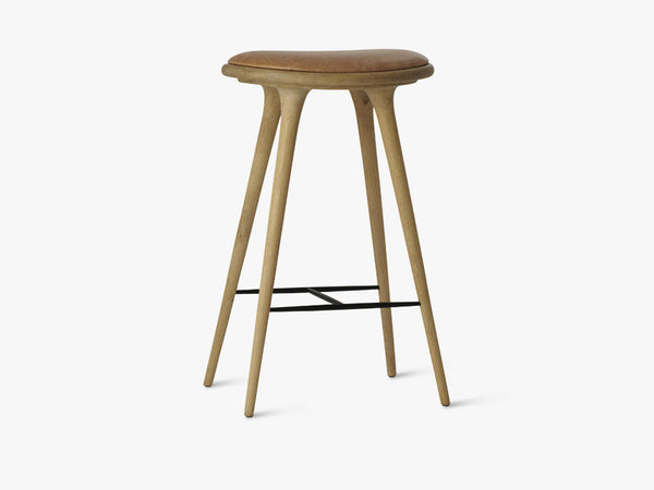 High Stool H74, Natural Soaped Oak fra Mater