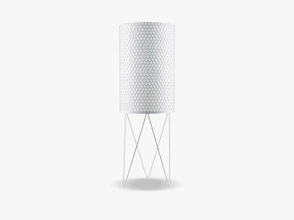 PD2 Floor Lamp, White fra GUBI