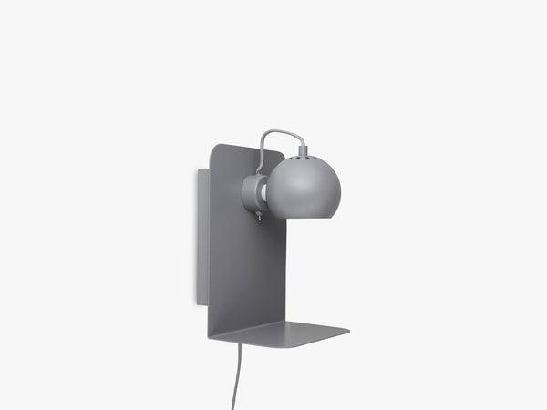 Ball Nightstand w USB, Matt Light Grey fra Frandsen
