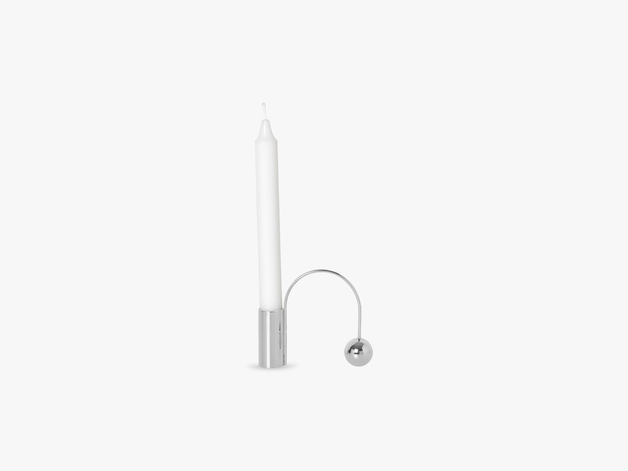 Balance Candle Holder, Chrome fra Ferm Living