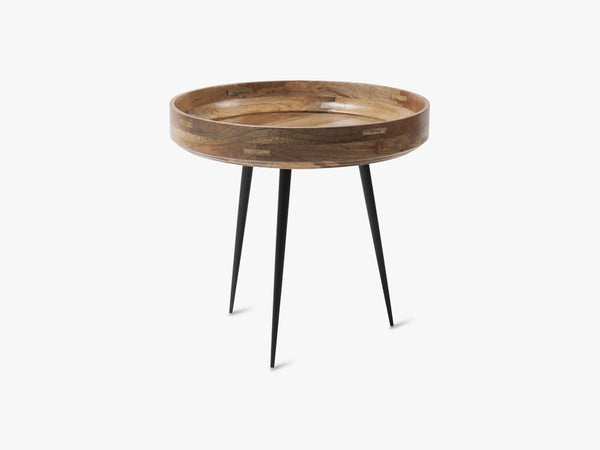 Bowl Table Small, Natural Lacquered Mango Wood fra Mater