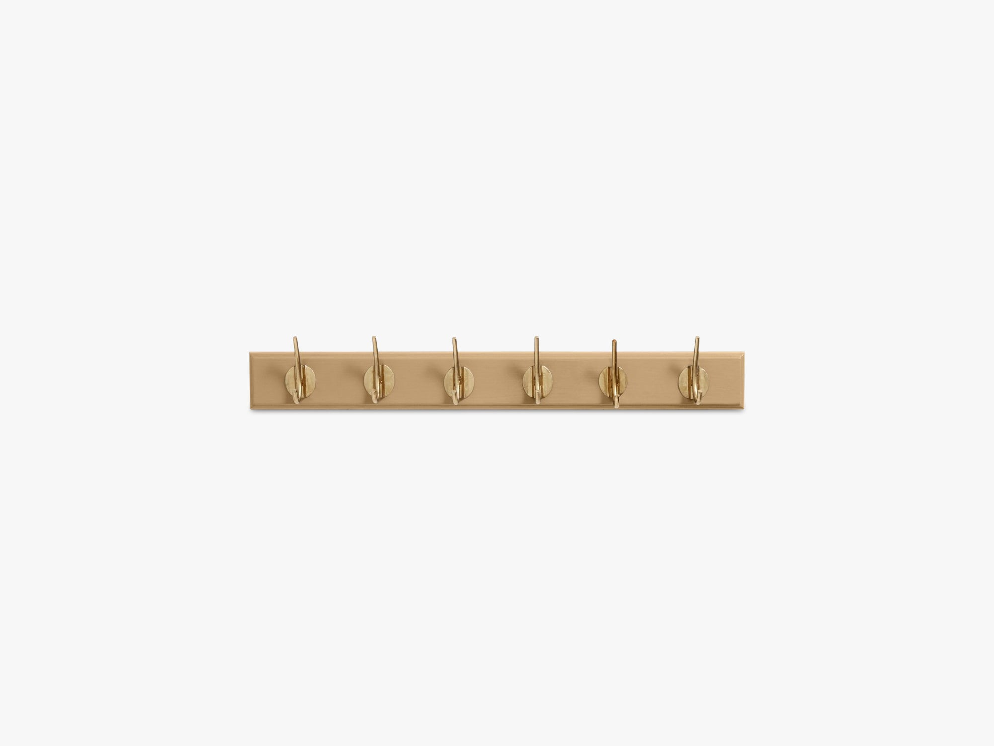 Coat rack, 6 brass hooks, matt camel fra Nordal