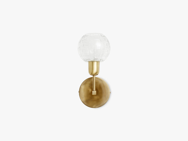 Wall lamp - round glass, golden fra Nordal