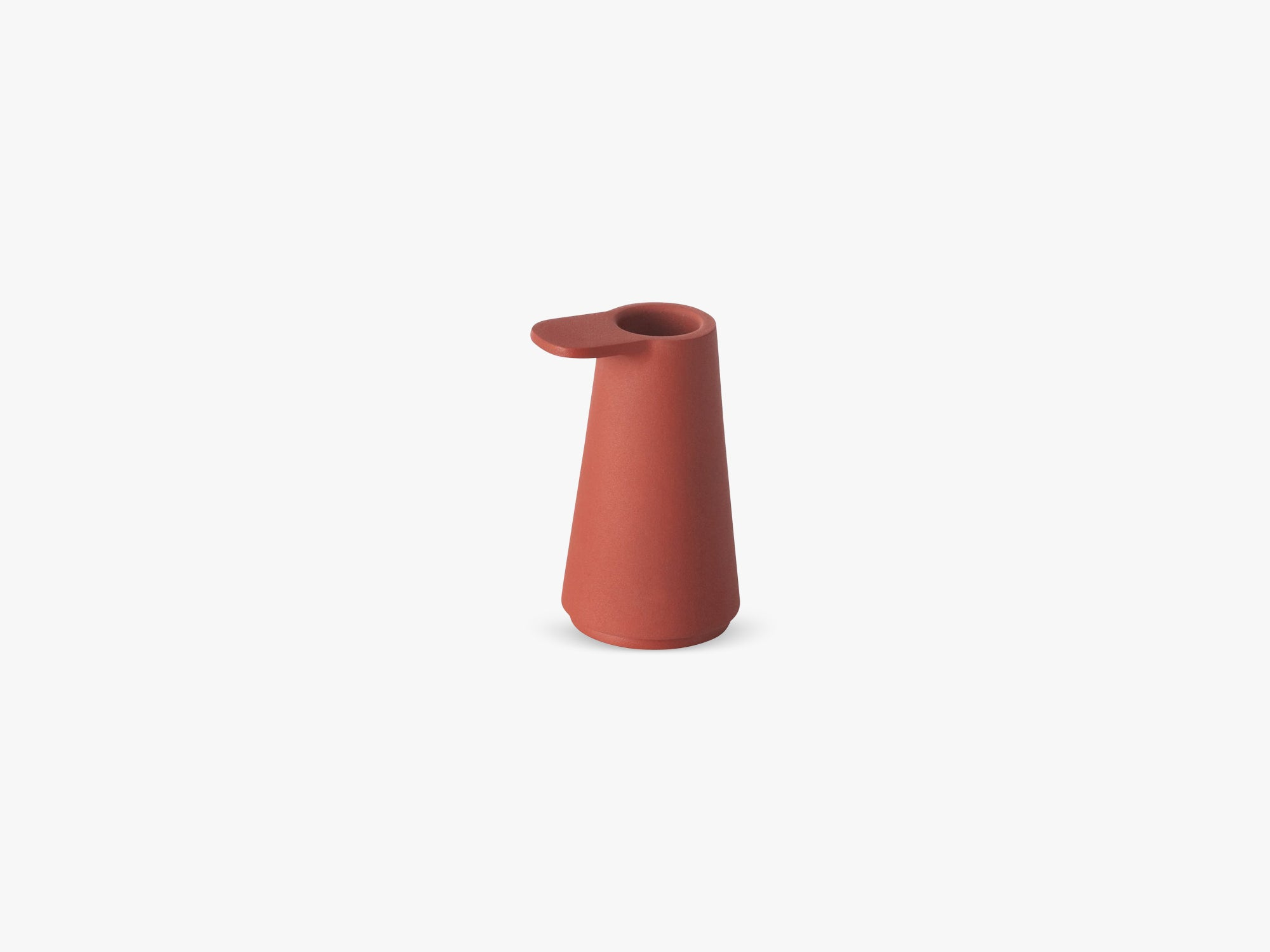 Grip Candlestick, Dusty Red fra Muuto