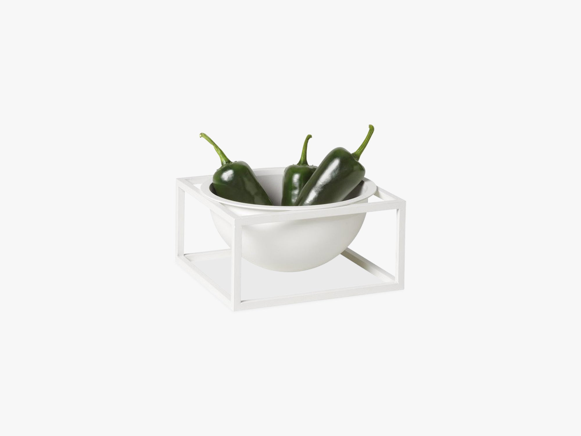 Kubus Bowl centerpiece large, white fra By Lassen