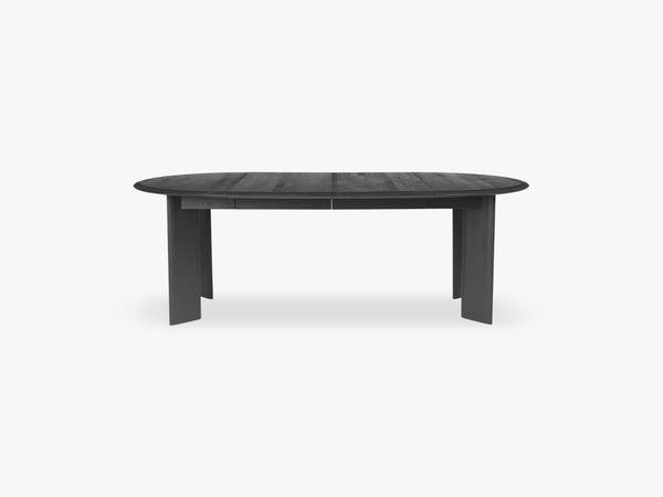Bevel Table Extendable x 2 - Black Oiled fra Ferm Living
