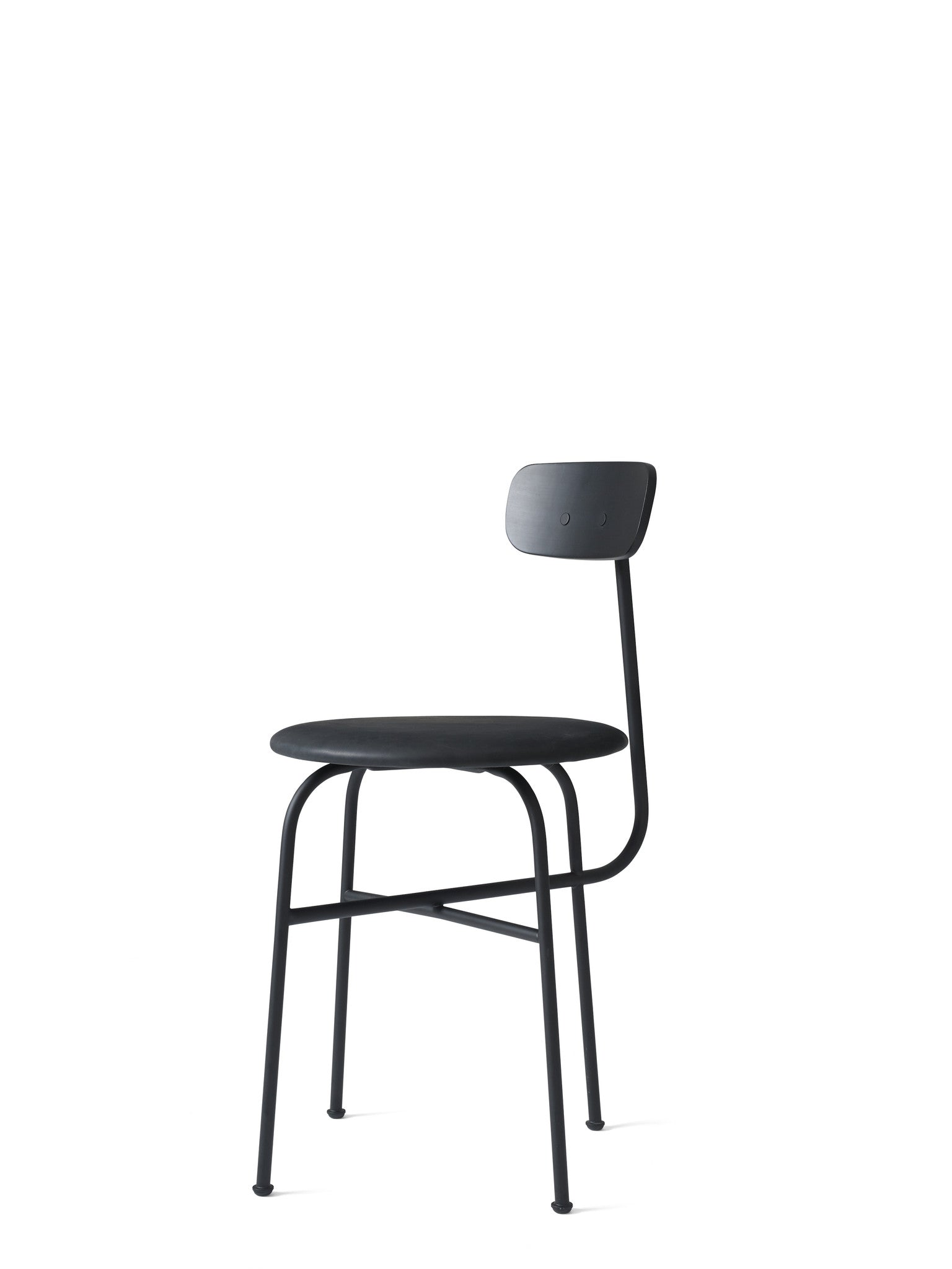 Afteroom Dining Chair 4 - Læder, Sort fra Menu