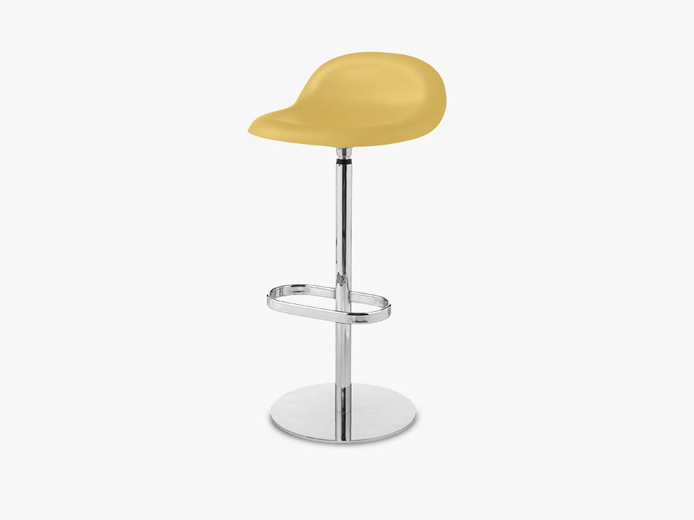 3D Bar Stool - Un-upholstered - 75 cm Swivel Chrome base, Venetian Gold shell fra GUBI