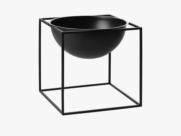 Kubus Bowl large, black fra By Lassen