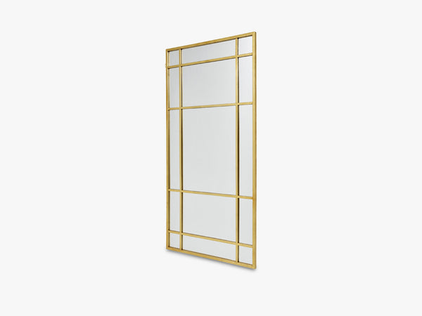 SPIRIT Iron wall mirror, gold fra Nordal