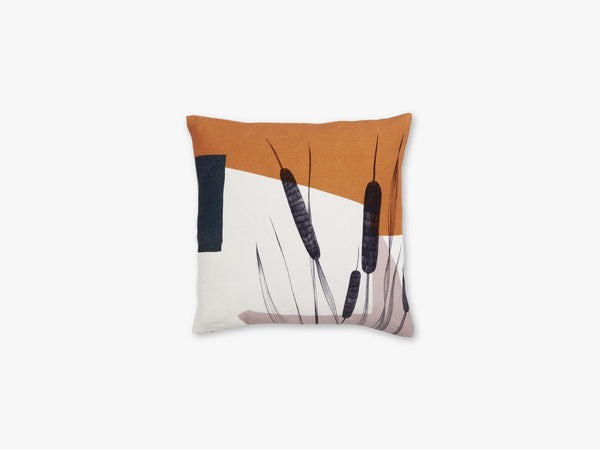 Cushion cover, bulrush, rose/terracotta fra Nordal
