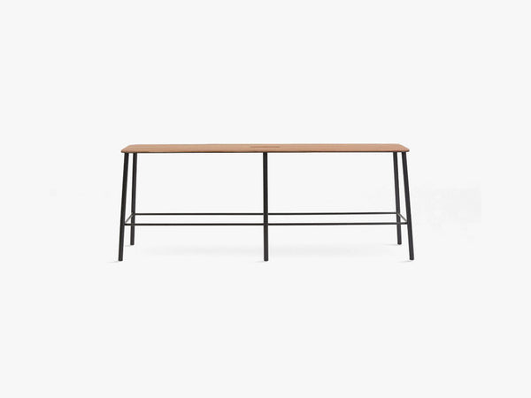 Adam Bench L120, Matt Black Leather fra FRAMA