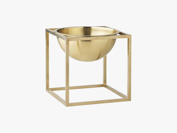 Kubus Bowl small, brass fra By Lassen