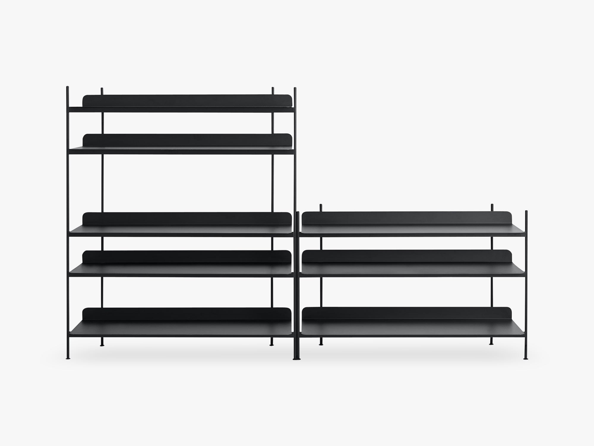 Compile Shelving System / Configuration 7, Black fra Muuto