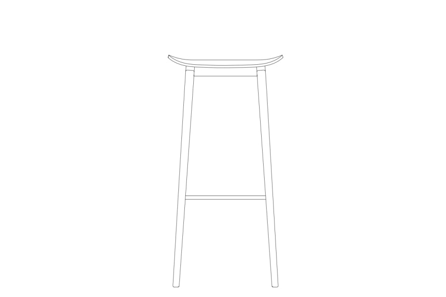 NY11 Bar Stool Low, Black fra NORR11