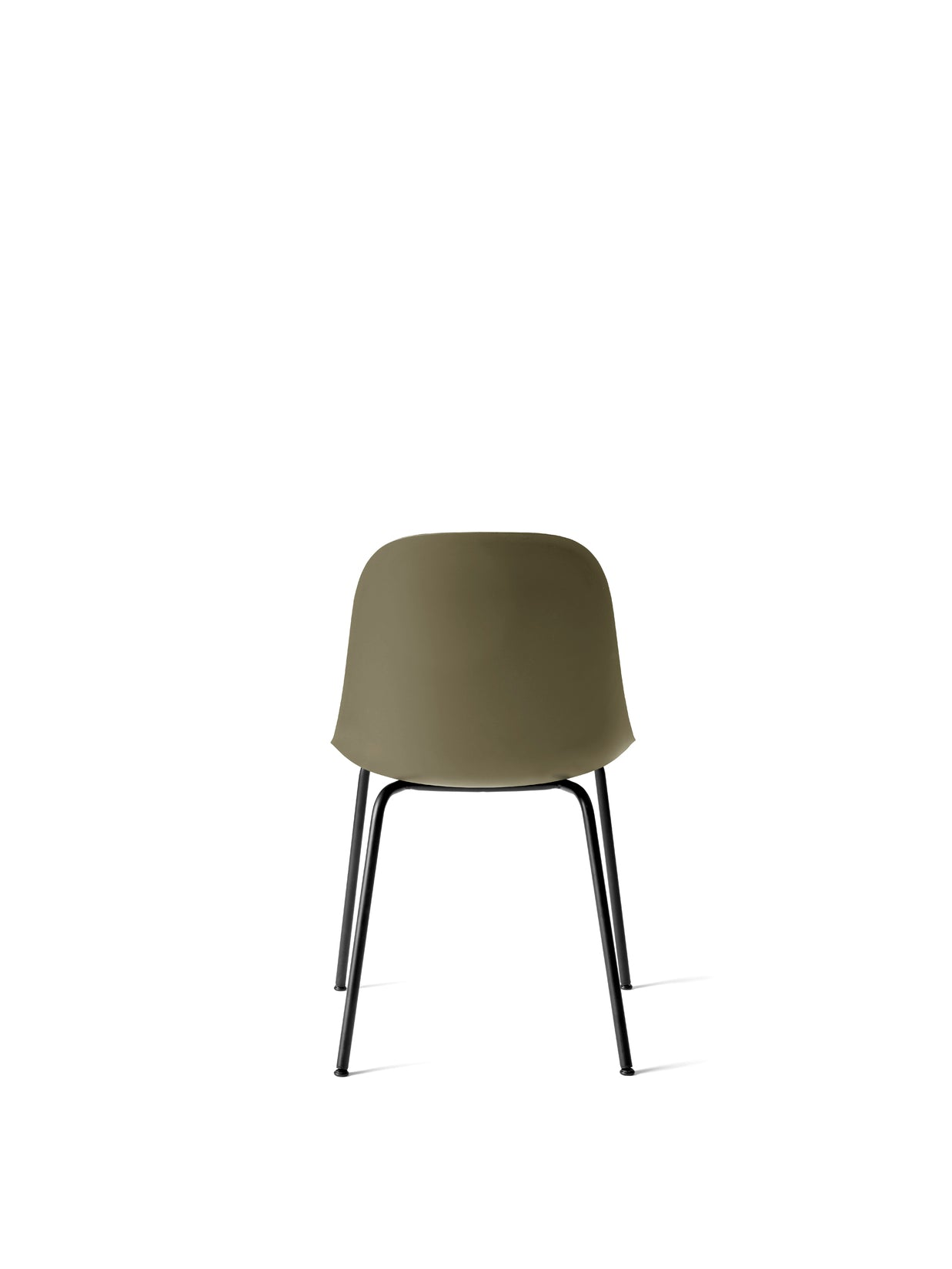 Harbour Side Chair, Black Steel Base/Olive shell fra Menu